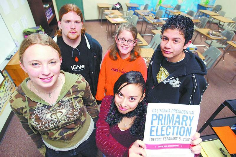 Dan Thrift Tahoe Daily Tribunejuniors From South High School Will Be Helping Out At The Polls Today Including Back Phillip Butz