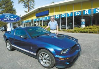 Jim Grant / Tahoe Daily TribuneZak Salah, owner of South Shore Motors, stands next to a 2008 Shelby GT 500 owned by South Lake Tahoe resident Scott Hoppe.