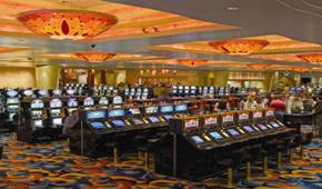 South Lake Tahoe is a slot player's paradise: Harveys has 870 machines, Harrah's 825, MontBleu (pictured above) 600 and Bill's 312.