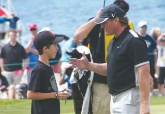 Provided to the TribuneJeremy Roenick gave a great effort, and sits in second place behind leader Jack Wagner who fired five better, coming in at 29 points after round one. Roenick met a fan after making eagle on 18 to put him at 24 going into Saturday.