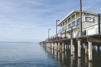 Tony Contini / A lease agreement for Blue Water Bistro on Timber Cove Pier was not renewed by property owners. A new restaurant, managed by Timber Cove Lodge, will open in the location this spring.