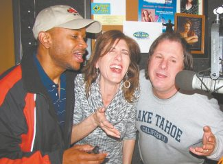Here for a song, comics Kivi Rogers, Frances Dilorinzo and Howie Nave promote their Improv appearances this week at Harveys on KRLT Radio.