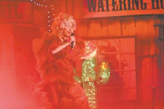 """Jim Whirlow / JRW Group EntertainmentHere I go: Bethany Owen appears as Dolly Parton, above, and many others in """"Christmas Country Style"""" nightly through Tuesday, Dec. 27."""