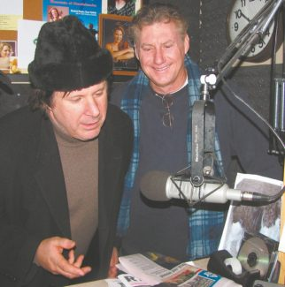 Improv host Howie Nave, left, and John Caponera warm up Tahoe with comedy this week.