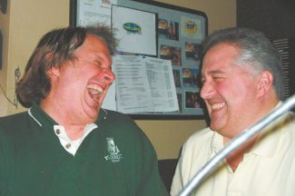 Whipsaw near the wilderness: When Howie Nave and Joe Starr are at work they laugh.