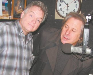 It's 10:30 a.m. Do you know where to find the funnymen? Don McEnery, left, is in the KRLT studio with Howie Nave.
