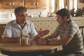 Eugene Levy and Jason Biggs in American Reunion, the third sequel to American Pie.
