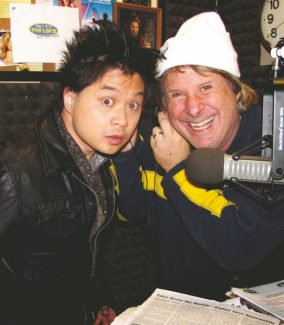 Dat Phan and Howie Nave share a laugh on the air at KRLT The Lake.