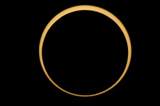 """The ring of fire solar eclipseis seen  near McCloud, Calif.,  on Sunday, May 20, 2012.  The western United States watched as the """"ring of fire"""" eclipse crossed their skies. (AP Photo/The Sacramento Bee, )  MAGS OUT; TV OUT; MANDATORY CREDIT"""
