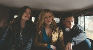 """CD-FP-001 (L-r) DEVIN KELLEY as Amanda, OLIVIA TAYLOR DUDLEY as Natalie and JESSE McCARTNEY as Chris in Alcon Entertainment, Film Nation Entertainment and Oren Peli/Brian Witten Pictures' """"CHERNOBYL DIARIES,"""" a Warner Bros. Pictures release."""