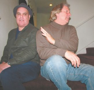 Gene Pompa finds Improv host Howie Nave playing hard to get this week through Sunday in Harveys.