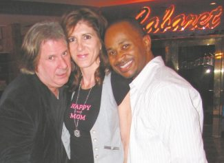 Improv host Howie Nave, left, Frances Dilorinzo and Kivi Rogers are pals and performers. They perform at Harveys through Sunday.