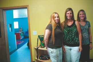 Axie Navas / Tahoe Daily TribuneJubilee Kids' Academy Director Melissa Jaramillo and owners Holly Shamas and Karla Peuler pose for a photo in the new preschool.