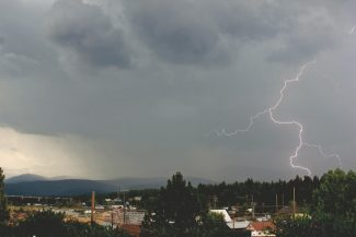 Courtesy Stefan McLeod PhotographyThis bolt of lightning that graced the skies above Truckee Monday afternoon was captured by photographer Stefan McLeod.