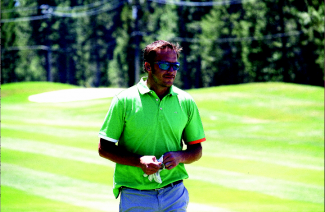 Susanne Haala/Tahoe Daily Tribune Bode Miller is shown Friday on the ninth hole at the American Century Championship.