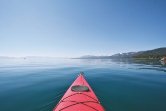 Provided to the TribuneA kayaker is greeted with calm waters along Lake Tahoe's West Shore in May.