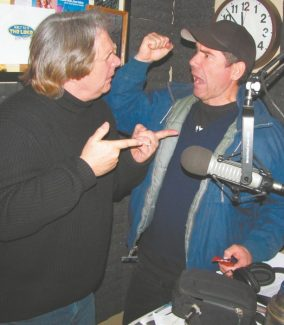 "When Graham Elwood is in Tahoe, he does live, in-studio ""Graham's Crackers"" shows with radio and Improv host Howie Nave. Here, the duo puts some physical in the funny. Elwood, Chris Mancini and Nave perform nightly though Sunday at the Harveys club. There are two shows Saturday."