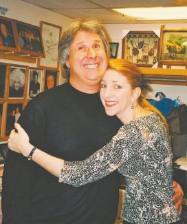 Harveys Improv has plenty of laughter and teeth this week with host Howie Nave, left, and headliner Maryellen Hooper. Jim McCue opens and fills the big-man role.