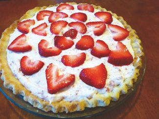 Trisha Leonard / Tahoe Daily TribuneStrawberry Bavarian Pie is a nice take on the classic dessert of strawberries and cream.