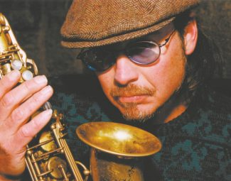 Saxophonist Niall McGuinness,