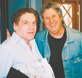 This weeks's comedy club headliner Charles Fleischer, left, does what others cannot: make Howie Nave seem as if he's not the crazy one in his photo.