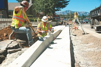 Axie Navas / Tahoe Daily TribuneHighway 50 construction has some of the area's businesses owners frustrated with the noise and work continuing by their front doors. To others, work will bring a needed improvement to the corridor.