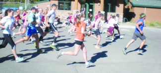 Courtesy of Carol Nageotte The 5K and 10K runners hit the trail at Kirkwood's annual 5K and 10K Adventure Trail Run on Saturday
