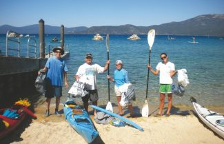 Sierra Nevada ConservancyVolunteers pitch in to clean up the Tahoe Water Trail on Saturday, Sept. 15, during the Great Sierra River Cleanup.