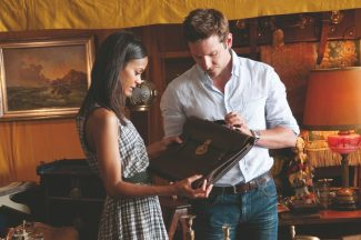 "Zoe Saldana and Bradley Cooper are caught up in a bookish chain of events in ""The Words."""