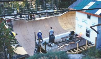 Jon Schurke / Provided to the TribunePat Solomon's ramp has been beefed up for the reTerror in Tahoe, a pro/am skateboarding competition this Saturday.