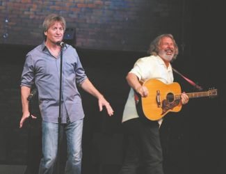 Mark Pitta, left, and Howie Nave performed Aug. 7 at the Throckmorton Theatre in Mill Valley. Pitta headlines Harveys Improv through Sunday, Sept. 16.