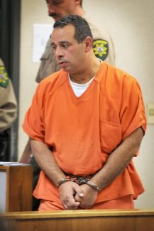 Mountain DemocratGino DiMatteo enters a Placerville court room Monday.