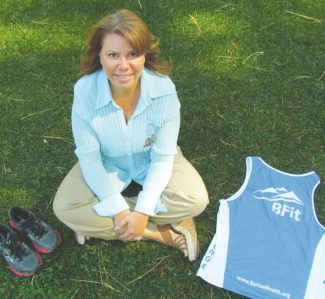 courtesy of Barton Memorial Hospital Jackie Durham has lost 27 pounds this year through the Barton Memorial Hospital health and wellness programs. She is now able to run in 10K this weekend during the Lake Tahoe Marathon.