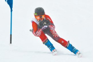 Harry Lefrak / Lefrak Photography  Whitney Gardner at the Tahoe Basin Ski League state competition where she placed third overall in March. The former Warrior was reccently named to the the 2012-13 World Cup Team.