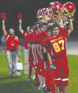 Becky Regan / Tahoe Daily Tribune The Warriors are battlefield ready before their homecoming game against Lovelock Sept. 28. Whittell travels to Incline for a must-win game against Incline tonight.