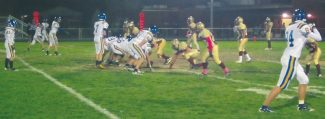 Courtesy of Gary Gardner The Vikings line up against Sparks in front of quarterback John Cefalu at South Tahoe's away game Friday. Cefalu, who leads the state in passing, threw for 342 yards in the Vikings 50-14 win.