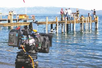 Ray O'Brien / Provided to the TribuneThe crew gets ready to film a scene at the Dolby family estate north of Tahoma.