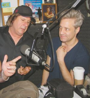 Courtesy of Howie NaveNick Griffin chats with Howie Nave during Howie's radio show. Griffin comes to Tahoe when he needs to clear his mind and write.
