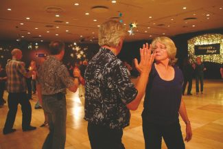 Axie Navas / Tahoe Daily TribuneKaren Hensman practices her West Coast Swing moves on Friday at the Mountain Magic Dance Convention.