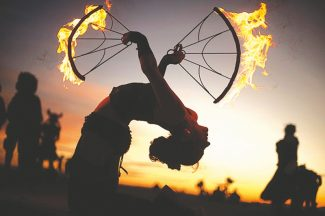 Tahoe Fire Dancers / Provided to the TribuneMembers of Tahoe Fire Dancers will light up on Saturday night at Raw Bar for the first-ever official Burning Man Decompression event in the South Shore.