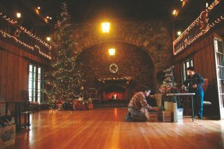 Axie Navas / Tahoe Daily TribuneVendors began setting up in the Valhalla Grand Hall Thursday for the holiday fair that kicked off Friday evening. The fair continues through Sunday.