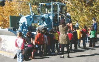 Courtesy of the city of South Lake TahoeStudents take a look at a snow motor grader on Nov. 6.