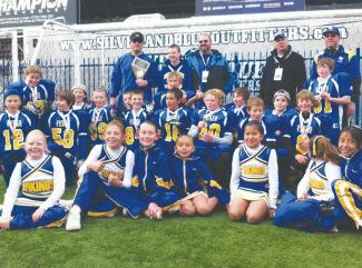 Courtesy of Sean Griffis The South Tahoe Junior Pee Wee football and cheerleading teams are all smiles after the boys took first in the Sagebrush League championship game Sunday at University of Nevada, Reno. Players are Zach Pexa (99), James Knudson (24), Tyler Wattanachina (16),  Henry Vacakis (7), Colby Lyle (56),  Kody Griffis (84) Colby Glaze (34), Giovanni Fena (21), Gunnar Barnwell (58), Troy Gerrard (13), Logan Field (5), Kyle Stoker (88), Trent Dingman (52), Conner Brown (51), Russell Degischer (75), Evan Dion (12), Zachary Johns (8), Drake Lathrop (20), Pearce Tanner (80). Junior Pee Wee Cheerleaders: Alyssa Flynn, Maile McDaniel, Hailey Hughes, Jackie Baustista, Andrea Smith, Lexington Fena and Vanessa Rojas.
