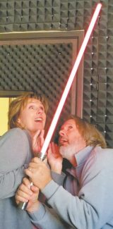 """LTCC Theater Director Susan Boulanger steps off campus to join Howie Nave and his """"saberschtick"""" at Harveys Improv."""