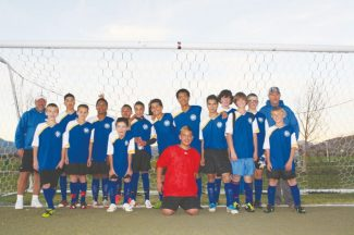Courtesy of Brian HoganThe under-15, All-Star championship team is feeling pretty good after wining the Associated Youth Soccer Organization title this year.