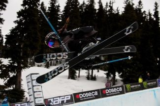 Courtesy of Sierra-at-Tahoe Resort Maddie Bowman sends it in the pipe at the World Skiing Invitational in Whistler Canada last season. The local freeskier was recently invited to the X Games and Dew Tour.