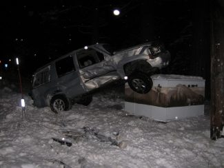 South Lake Tahoe Police DepartmentThe GMC Yukon involved in a fatal Saturday crash is shown.