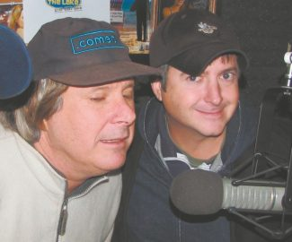 Howie Nave interviews Brian Dunkleman on the radio station KRLT. Dunkleman is the headline comic this week at the comedy club at Harveys Resort and Casino.