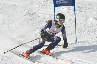 Courtesy Harry Lefrak / Lefrak Photography Whittell skier Michael Gardner claimed first place among Class A girls at the Alpine Meadows race Thursday with an overall time of 1:09.91. See more photos from the race at www.lefrakphotography.com.