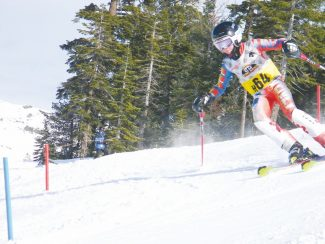 Courtesy of Billy Barnwell Gunnar Barnwell charged to first place at Mountain High on Saturday despite poor snow conditions.